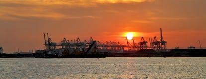 Puesta del sol del panorama Foto de archivo libre de regalías