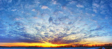 Puesta del sol del pantano Fotografía de archivo