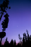 Puesta del sol del parque nacional de Montana Foto de archivo libre de regalías