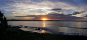 Puesta del sol del parque nacional de Noosa Imagen de archivo