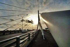 Puesta del sol del puente de Rama VIII Fotos de archivo