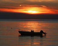 Puesta del sol del puerto Fotos de archivo