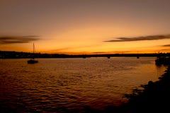 Puesta del sol del puerto de Wexford Foto de archivo libre de regalías