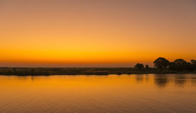Puesta del sol del río de Chobe Fotos de archivo