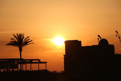 puesta del sol del sidon Fotografía de archivo