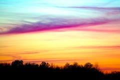 Puesta del sol del sorbete Foto de archivo libre de regalías