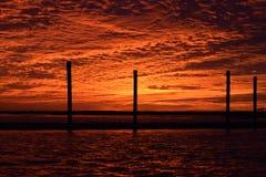 Puesta del sol del St Simons del lucero del alba imagen de archivo