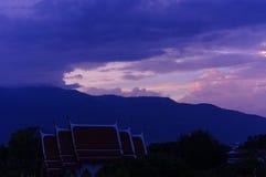 puesta del sol del suthep del doi Foto de archivo libre de regalías