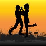 Puesta del sol del tango Fotos de archivo libres de regalías