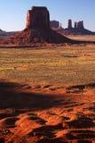 Puesta del sol del valle del monumento Foto de archivo
