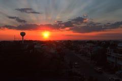 Puesta del sol del verano Foto de archivo libre de regalías