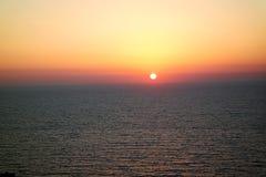 Puesta del sol del verano Imagen de archivo libre de regalías
