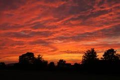 Puesta del sol del verano en Herefordshire Fotografía de archivo