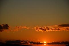 Puesta del sol del verano en New Hampshire imagenes de archivo