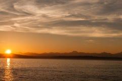 Puesta del sol del verano indio Foto de archivo
