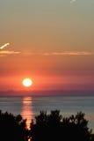 Puesta del sol del Vue Imagen de archivo libre de regalías