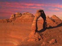 puesta del sol delicada Fotografía de archivo libre de regalías