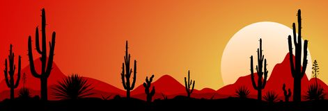 Puesta del sol 1 del desierto de México