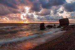 Puesta del sol después de la tormenta Fotos de archivo libres de regalías