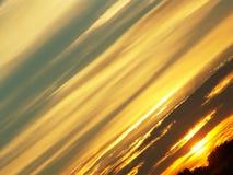 Puesta del sol diagonal Fotografía de archivo libre de regalías
