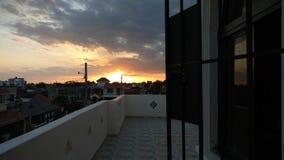 Puesta del sol dominicana Foto de archivo libre de regalías