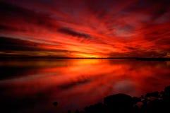 Puesta del sol dramática Foto de archivo