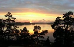 Puesta del sol dramática Imagen de archivo libre de regalías