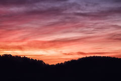 Puesta del sol dramática de Dakota del Sur Fotografía de archivo