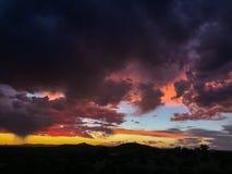 Puesta del sol dramática de New México fotos de archivo libres de regalías