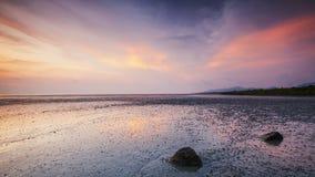 Puesta del sol dramática en la isla de Penang Fotografía de archivo