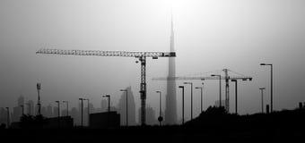 Puesta del sol. Dubai Imágenes de archivo libres de regalías