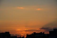 Puesta del sol, Edimburgo Foto de archivo