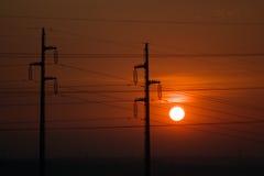Puesta del sol eléctrica Imágenes de archivo libres de regalías