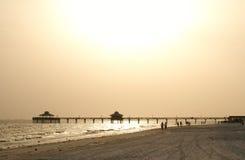 Puesta del sol @ el embarcadero Foto de archivo libre de regalías