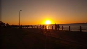 Puesta del sol en África Fotografía de archivo