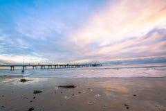 Puesta del sol en Adelaide Foto de archivo libre de regalías