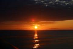 Puesta del sol en Alaska Imágenes de archivo libres de regalías