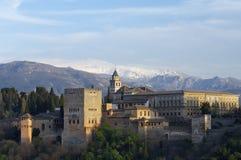 Puesta del sol en Alhambra Fotos de archivo