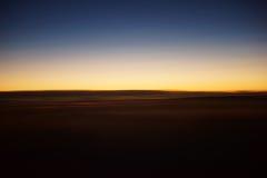 Puesta del sol en altitud Foto de archivo