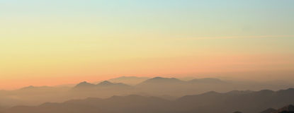 Puesta del sol en Anboto fotos de archivo
