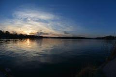 Puesta del sol en Annapolis Fotos de archivo libres de regalías