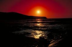 Puesta del sol en Antiparos Foto de archivo libre de regalías