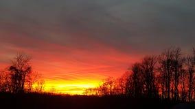 Puesta del sol en Appalachia Fotos de archivo