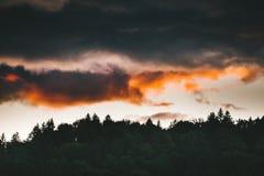 Puesta del sol en Apuseni Imagen de archivo