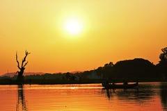 Puesta del sol en Asia Imagen de archivo libre de regalías