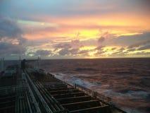 Puesta del sol en Atlántico Fotografía de archivo libre de regalías
