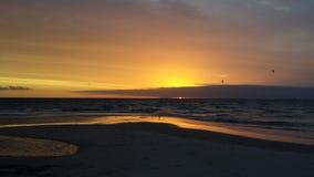 Puesta del sol en Australia Foto de archivo