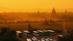 Puesta del sol en Bagan metrajes