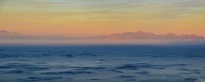 Puesta del sol en bahía falsa Fotografía de archivo libre de regalías