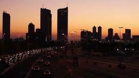 puesta del sol en Bahrein almacen de metraje de vídeo
